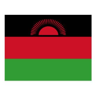 Malawi flagga vykort