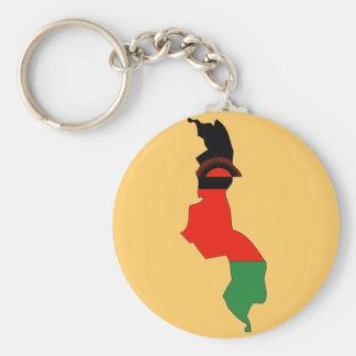 Malawi flaggakarta rund nyckelring