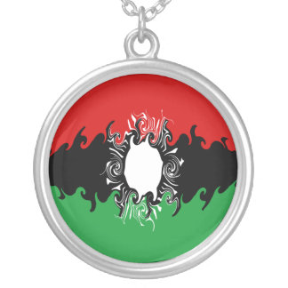 Malawi Gnarly flagga Halsband Med Rund Hängsmycke