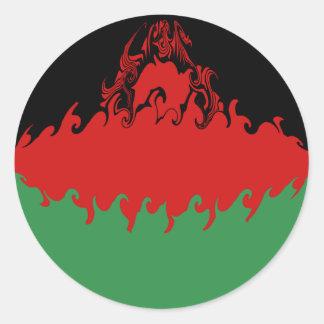 Malawi Gnarly flagga Runt Klistermärke