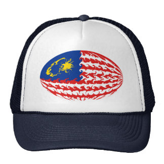 Malaysia Gnarly flaggahatt Mesh Kepsar