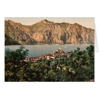Malcesine Garda, sjö av, italienvintage Photochro Hälsningskort