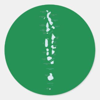 Maldiverna kartaklistermärke runt klistermärke