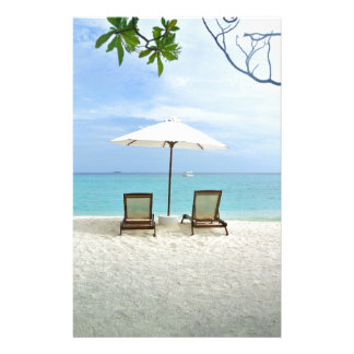 Maldiverna strand brevpapper