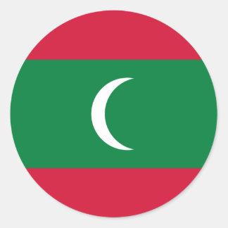 maldives runt klistermärke