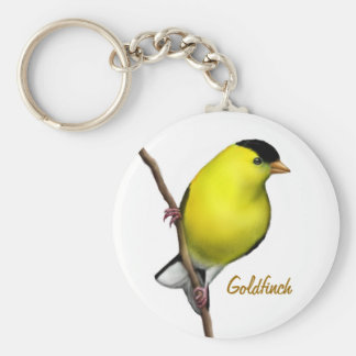 Male amerikansteglitsfågel Keychain Rund Nyckelring