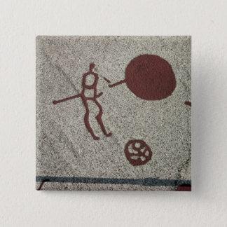 Male figur med solen standard kanpp fyrkantig 5.1 cm