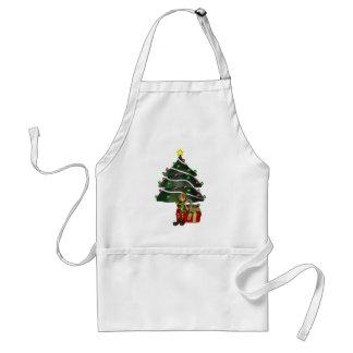 Male helgdag för jul för älvaträdgåva förkläde
