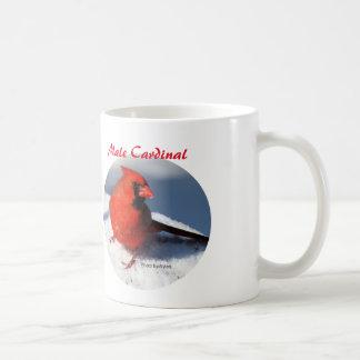 Male kardinal kaffemugg