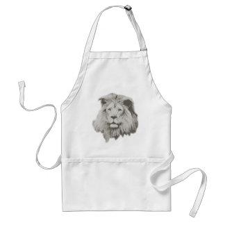 Male lejont i svartvitt förkläde