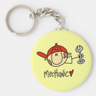 Male mekaniker Keychain Rund Nyckelring