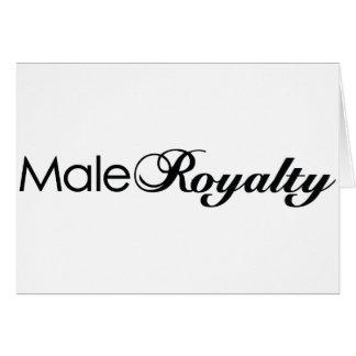 Male royalty hälsningskort