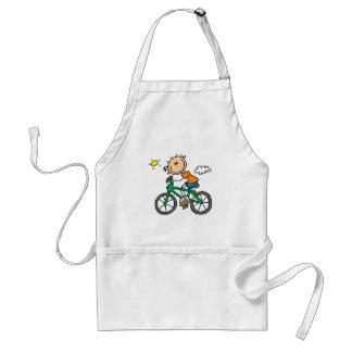 Male stick figurcyklistTshirts och gåvor Förkläde
