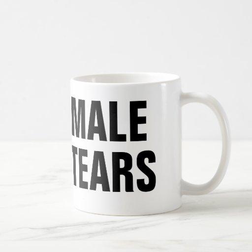 Male tårar kaffe muggar