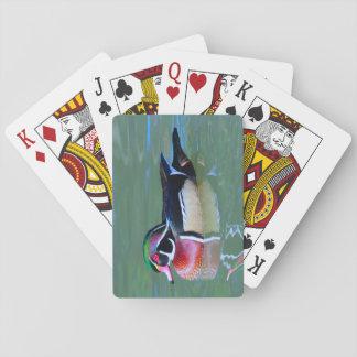 Male Wood anka på damm Casinokort