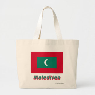 Malediven Flagge mit Namen Tote Bag
