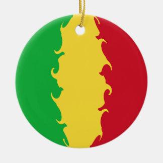 Mali Gnarly flagga Rund Julgransprydnad I Keramik