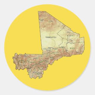 Mali kartaklistermärke runt klistermärke