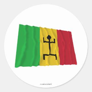 Mali som vinkar flagga (1959-1961) runt klistermärke