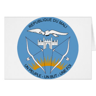 Mali vapensköld hälsningskort