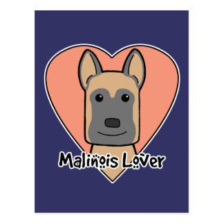 Malinois älskare vykort