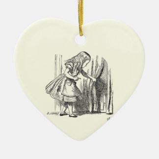 Mall Alice som söker efter dörren Julgransprydnad Keramik