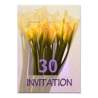 Mall för årsdagpartyinbjudan - Callas 12,7 X 17,8 Cm Inbjudningskort