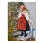Mall för beställnings- kort för Carl Larsson julgr