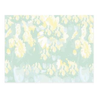 Mall för blommigt för Lightshade gultgrönt Vykort