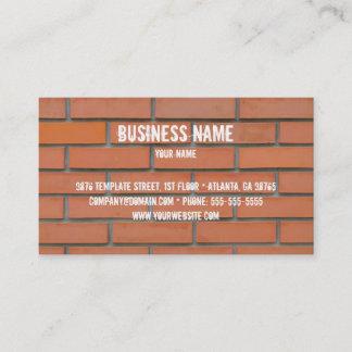 Mall för byggnadbranschvisitkort visitkort