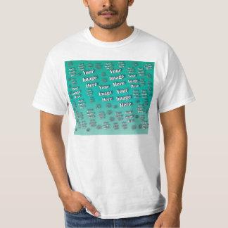 Mall för Digital diagramfoto T-shirt