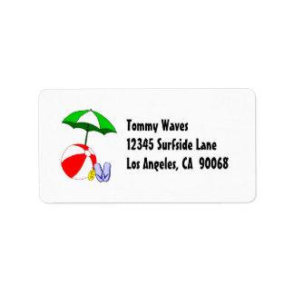 Mall för etikett för adress för paraply för adressetikett