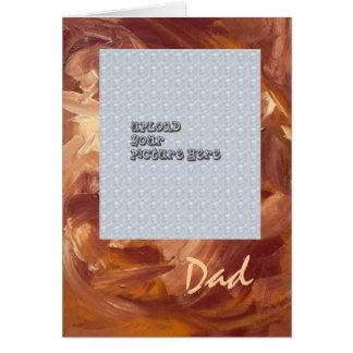 Mall för fars dagfotokort hälsningskort