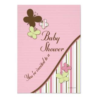 Mall för fjärilsbaby showerinbjudan 12,7 x 17,8 cm inbjudningskort