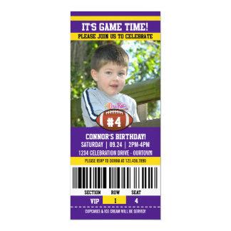 Mall för fotbollfödelsedagfoto 10,2 x 23,5 cm inbjudningskort