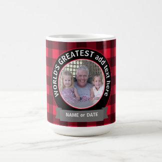 Mall för foto för världsmästarepappamorfar kaffemugg