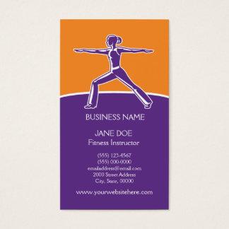 Mall för kondition- eller dansinstruktörvisitkort visitkort