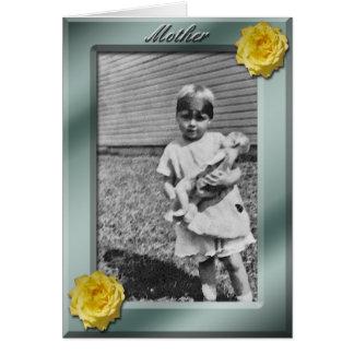 Mall för mors dagfotokort hälsningskort