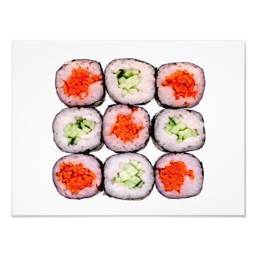 Mall för SushiRolls japansk mat Fotografier