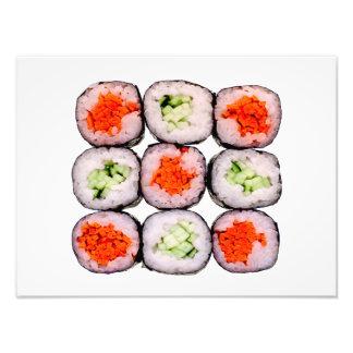 Mall för SushiRolls japansk mat Fototryck