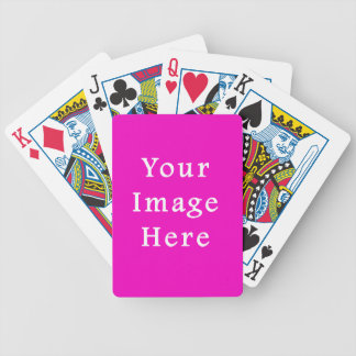 Mall för trend för neonshock rosafärg tom spelkort