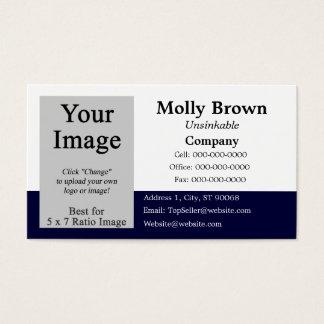 Mall för visitkort för fotoblåttvit tom