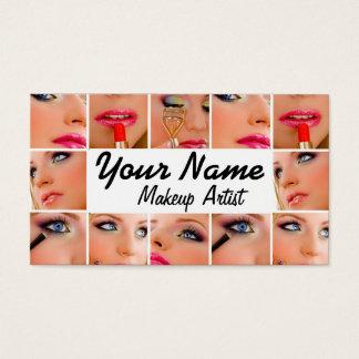 Mall för visitkort för Makeupkonstnär
