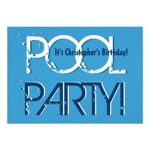 Mall för vit för blått för party för barnfödelseda tillkännagivanden