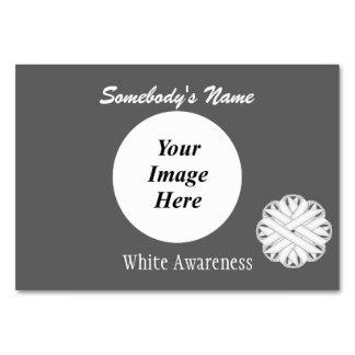 Mall för vitblommaband av Kenneth Yoncich Bordsnummer