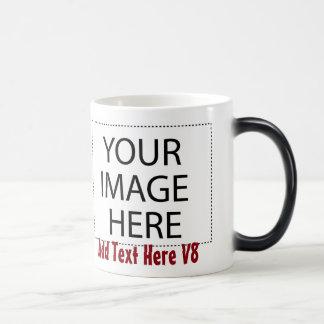 Mall V8 för mugg för DIY-personligkaffe Morphing