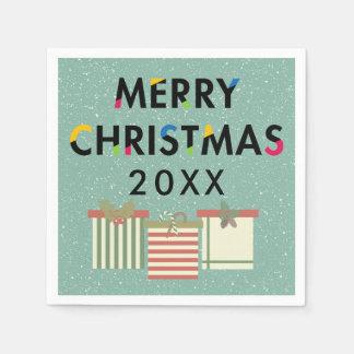 Mallgåvan för god jul 20XX boxas Pappersservetter