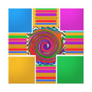 MALLKONST tillfogar din fototext på 4 kvadrerar Canvastryck