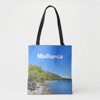 Mallorca fjärd av den Formentor souvenir Tygkasse