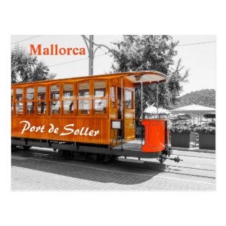 Mallorca gammal spårvagn av Port de Soller Vykort